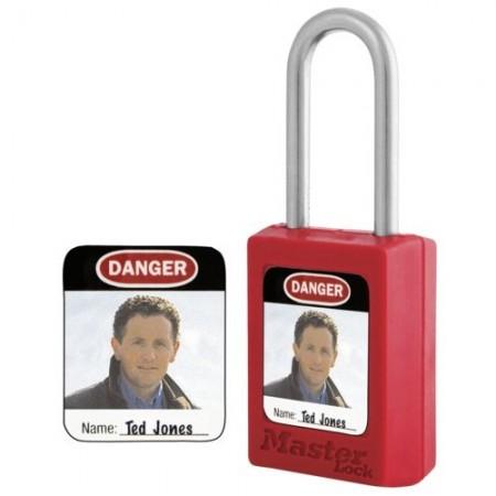 Фотографические идентификационные этикетки для навесных замков серий S31, S32 и S33. Идентифицирующая фотография может быть закреплена с помощью самоклеящейся прозрачной пленки.